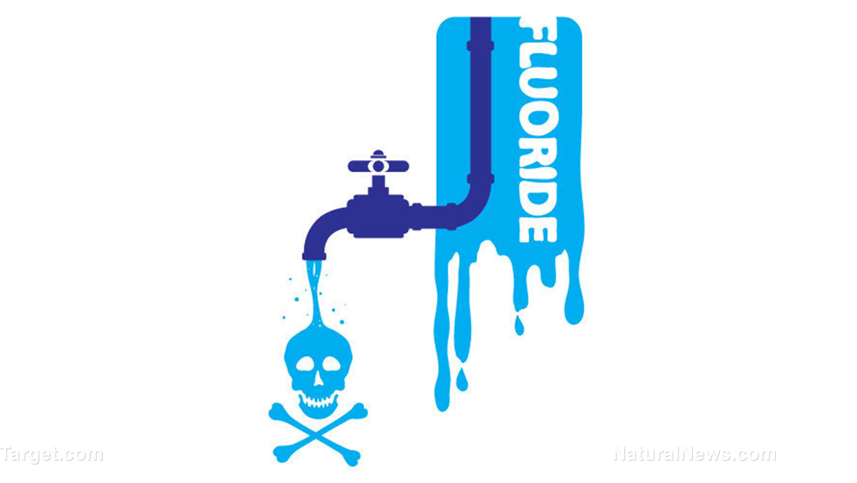 Fluoride Water Plumbing Faucet Danger Icon Waste